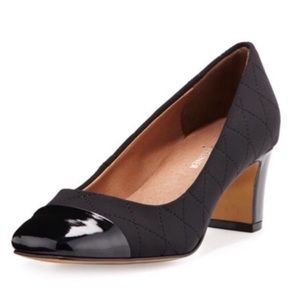 Donald J. Pliner / Quilted Crepe Black Pump / sz 8
